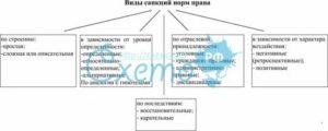 Виды санкций в уголовном праве схема
