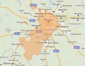 Карта московской прописки в москве