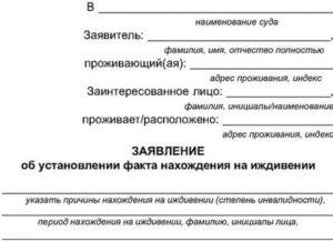 Заявление о содержании на иждивении иностранца образец