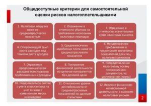 Критерии самостоятельной оценки рисков для налогоплательщиков 2021
