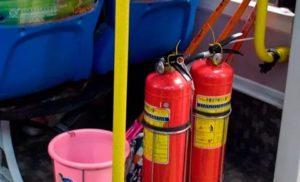 Какой емкости огнетушитель при перевозке детей в автобусе