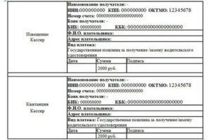 Реквизиты для оплаты госпошлины за замену водительского удостоверения в выборге
