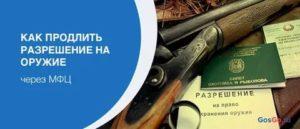 Продлить лицензию на оружие в мытищах