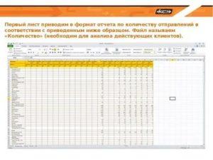 Ежемесячный отчет по отгрузкам бланк менеджера продажам образец