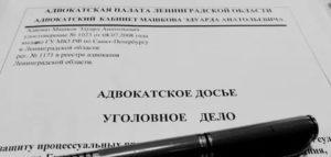 Адвокатское досье по уголовному делу образец
