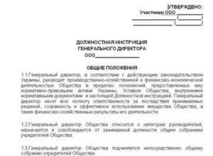 Должностная инструкция зам директора в сфере жкх