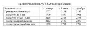 Какой прожиточный минимум в днр 2021 году