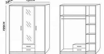 Схема сборки шкафа рим 150